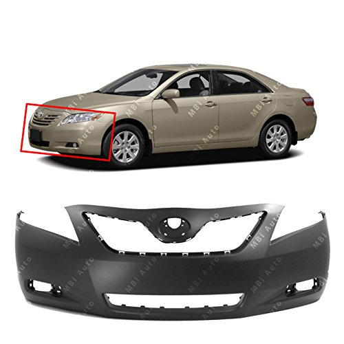 BUMPERS THAT DELIVER - Primered, Front Bumper Cover Fascia for 2007 2008 2009 Toyota Camry 07 08 09, TO1000329