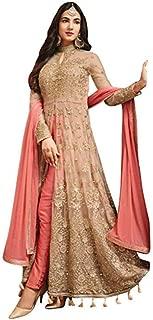 Women's Anarkali Salwar Kameez Designer Indian Dress (Set of 5) Party Embroidered Gown