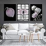 Ivpss Angel Wings Vintage Posters Y Estampados Pink Wall Art Pintings Flower Peony Pop Art Wall Imágenes Para La Sala De Estar Deco 40x60cm NoFramed