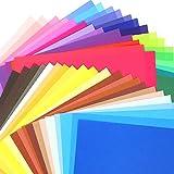 Pllieay 100 Hojas 15 x 15 cm 50 Colores de Papel para Origami para DIY Manualidades Proyectos
