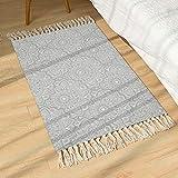 SHACOS Alfombra de Estilo Persa/Oriental - Alfombra de algodón para salón/Dormitorio/Antideslizante - Impresión Digital -Alfombra Lavable 60 x 90cm