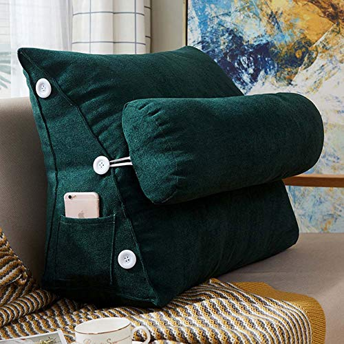 Adjustable Back Wedge Cushion Pillow, Back Rest Cushion with Neck Support for Sofa Bed Office Chair Cushion, Washable Cover,9,S