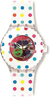 Swatch Women's Quartz Watch with Black Dial Analogue Display Quartz Silicone SUUK108