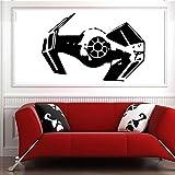 Tianpengyuanshuai Etiqueta de la Pared Tie Fighter Room Decoration Tatuajes de Pared Sticker Room Design 57X38cm