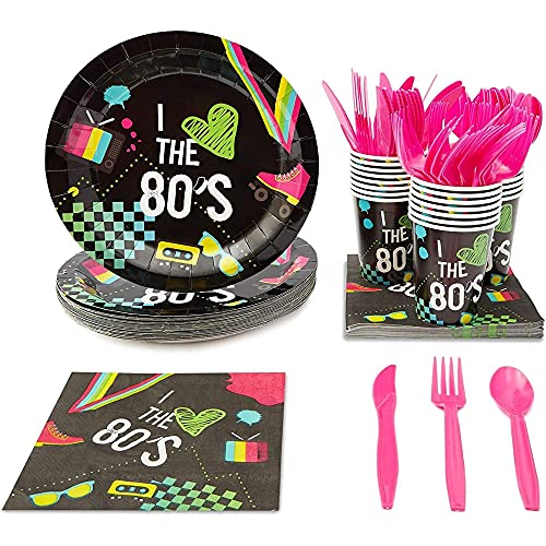 80s Party Supply Kit (Serves 24 Guests)