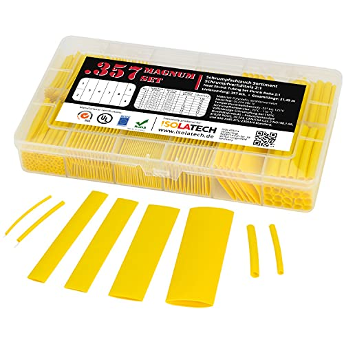 ISO-PROFI® 357 piezas Tubo Retráctil de rango 2:1 en cajas amarillo