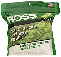 36 Pack Fertilize Analysis: 25-10-10 Fertilize at the roots Easy to use formula for trees and shrubs No mixing or measuring