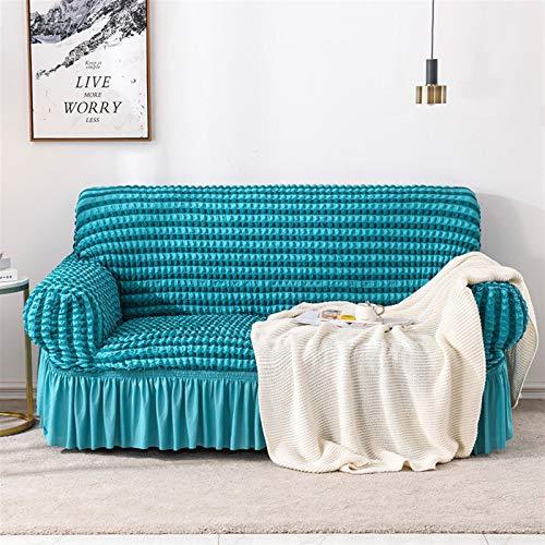 Cubierta de sofá de patrón de Raya Simple Seersucker Falda Sofá Cubierta para Sala de Estar Sofá elástico Cubierta sofá Sofá Funda 1/2/3/4 Seaver (Color : Color 4, Specification : 1 Seat 70 120cm)