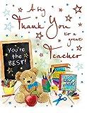 Tarjeta de agradecimiento para profesores de ocasión - 20 x 15 cm - Regal Publishing