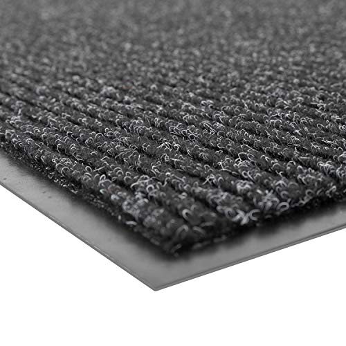 Notrax 109 Brush Step Entrance Mat, for Home or Office, 4' X 6' Charcoal (109S0046CH)