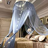 Round Hung Dome Moskitonetz Feinmaschige Moskitonetze Für Doppelbett Moskitonetz Für Babybett Baldachin Netz Zelt Schlafzimmer Dekor-Pale Mauve Keine Lampe 1.35 M (4.5 Fuß) Bett - 7