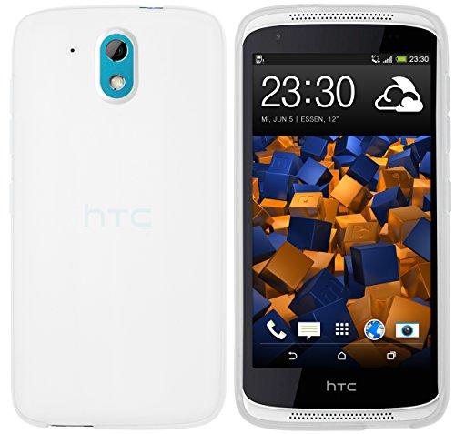 mumbi Hülle kompatibel mit HTC Desire 526G Handy Case Handyhülle, transparent Weiss