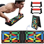 Jeteven Push-Up-Board, 9-in-1-Multifunktions-Muskelboard, Bodybuilding-Trainingsgeräte, Farbcodiertes Push-up-Board für Heimfitness-Trainingsgeräte