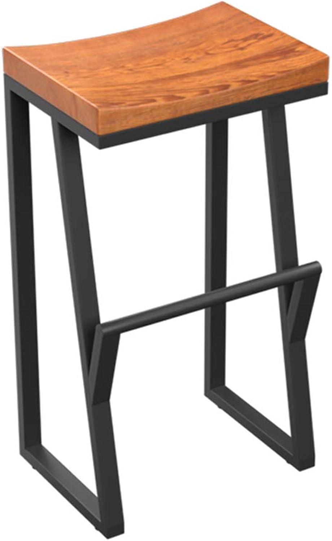 LYXPUZI Barhocker Retro bar Chair - Wrought Iron bar Stool Solid Wood bar Stool high Stool - bar Chair Front Chair Coffee Chair Frühstücksschemel (Size   70cm)