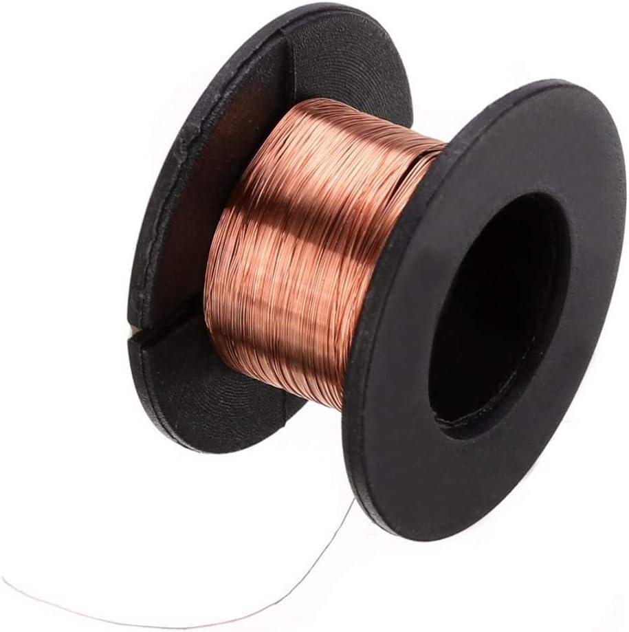 PYuLi-alambre de cobre 5pcs 0.1mm Soldadura de cobre soldadura PPA Link Alambre de puente, Mantenimiento Línea de salto Reel de reparación Esmaltada Cable de soldadura Accesorios ampliamente utilizado