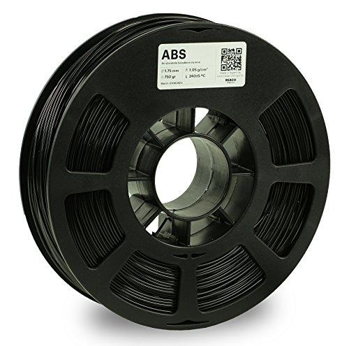 KODAK ABS Filament 1.75mm for 3D Printer, Black, Dimensional Accuracy +/- 0.03mm, 750g Spool (1.7lbs), ABS Filament 1.75 Used as 3D Printer Filament to Refill Most FDM Printers