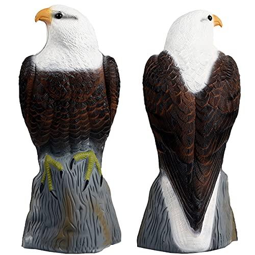 Frofine Espantapajaros Jardin Águila Plástico Estatua Águila Ahuyentador Pajaros Repelente de Aves Control Plagas Jardín Repelente Pájaros Control de Aves Ahuyentar Palomas Bird Control Anti Paloma