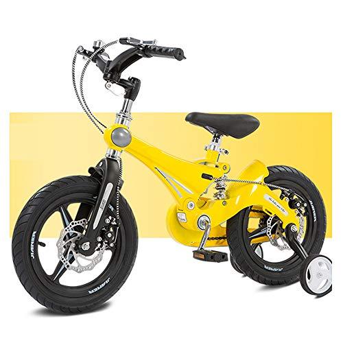 LFFME Bicicleta para Niños De 12 A 16'para Niñas Y Niños, Bicicleta para Niños con Ruedas De Entrenamiento Y Frenos De Mano, Manillar Plegable, Bicicleta Integrada De Aleación De Magnesio,C,16