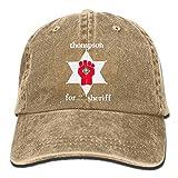 saletopk Thompson Sheriff Gonzo Plain Einstellbare Cowboy Cap Denim-Hut für Frauen und Männer