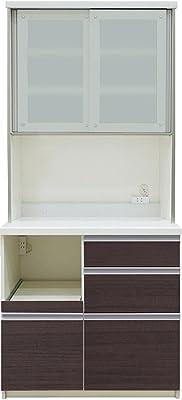 パモウナ 食器棚LF カカオチェリー 幅90×高さ198×奥行50 日本製 LF-900R