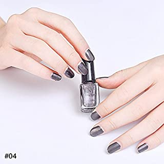 hjuns-Wu マニキュア パール感 1ボトル 6ml ネイルポリッシュ(黒)