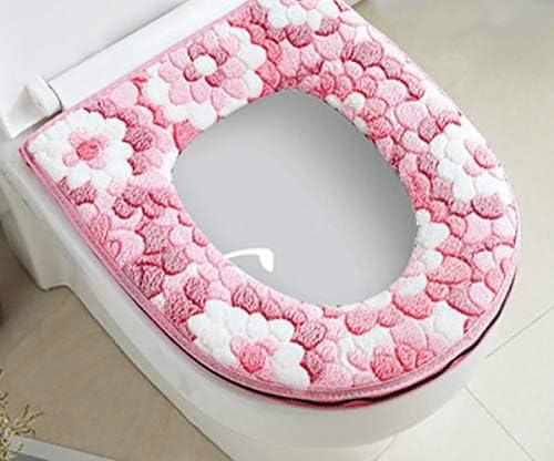 Toiletbril Zomerse Universele Wcbril Huishoudelijk Dikker Toilet Set Met Rits Leuke Toilet Mat Waterdicht Kussen En Planet Lila