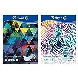 Pelikan 236799 - Blocco da disegno, formato A3, 20 fogli, motivi assortiti, motivo assorti...