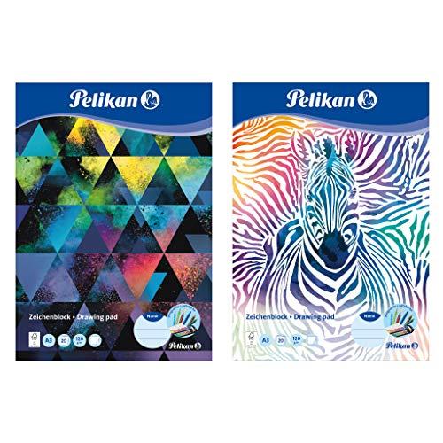 Pelikan 236799 Zeichenblock A3, 20 Blatt, Motive sortiert - keine Motivauswahl möglich!, 1 Stück