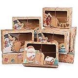 12pcs cajas de torta de Navidad cajas de regalo cajas de galletas de Kraft de la...
