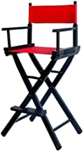 Makeup Telescopic Artist High-Footed Director Chair丨Wood Foldable Outdoor High Chair丨Tall Makeup Chair,High 116cm (Color :...