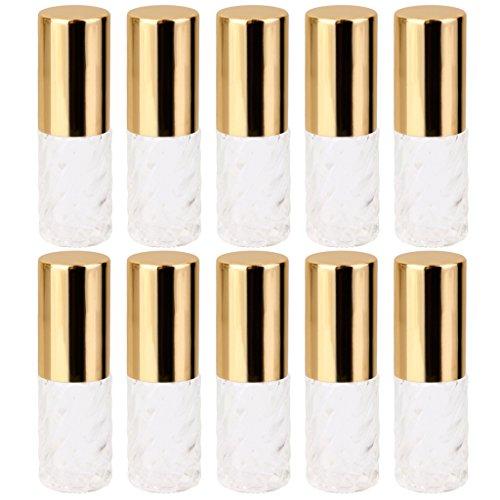 P Prettyia 5 bouteilles Vide Roll-on Parfum Verre Conteneur Hommes Voyage Femmes Transparent Remplacer 5 ml
