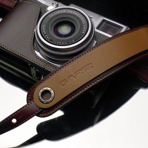 ネックストラップ Gariz ゲリズ 本革 カメラストラップ ショルダーストラップ 長さ調節可能! (ブラウン) [並行輸入品]