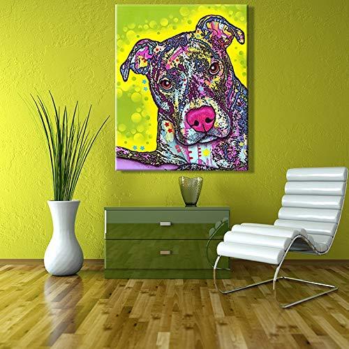 Puzzle 1000 Piezas Pintura artística de Lindos Colores de Perros y Animales Abstractos. Puzzle 1000 Piezas Animales Educativo Divertido Juego Familiar para niños adultos50x75cm(20x30inch)