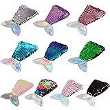 Bolso lentejuelas niña, VVEMERK 10 piezas de monedero de lentejuelas de sirena, mini bolsos de bandolera con lentejuelas de cola de sirena, monedero pequeño para regalo de cumpleaños de niños