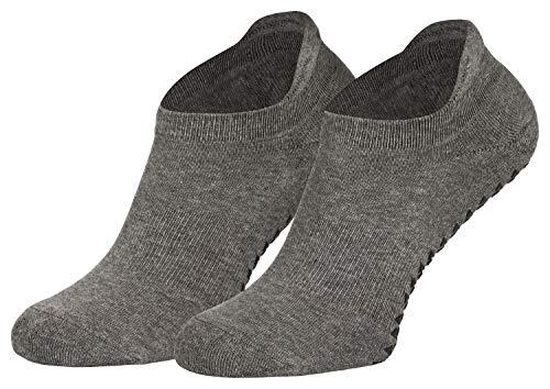 Piarini Pilates Socken Damen Anti Rutsch - Yoga Socken - Stoppersocken & Antirutschsocken Frauen grau anthrazit 39 49 41 42
