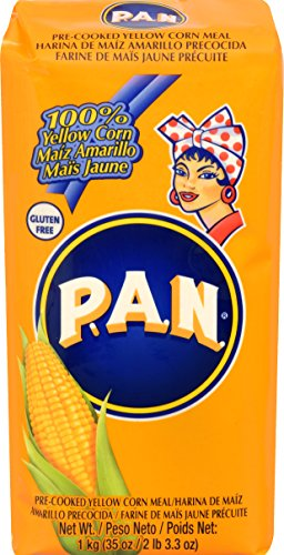 Harina Pan Pre-Cooked Corn Meal, Yellow, 35.27 Ounce