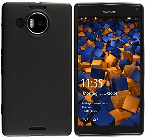 mumbi Hülle kompatibel mit Nokia 950 XL Handy Case Handyhülle, schwarz
