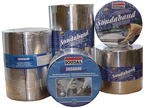 Soudal Soudaband Aludichtband Bitumenband Dachabdichtung 300mm x 10m -> alu, selbstklebend, wasserdicht