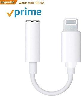 【最新版IOS11/IOS10.3対応】Lightning - 3.5mm イヤホン・ヘッドフォンジャックアダプタ/変換ケーブル lightning イヤホン イヤホンジャックiPhoneX/8/plus/7/iPhone7plus