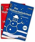 Das Weihnachtsliederbuch-Set: 2 Spielbücher mit 94 Weihnachtsliedern für C-Instrumente (z.B. für Querflöte, Blockflöte, Geige, Oboe) & Klavierbegleitung (mit Melodiestimme in C)....