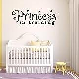 Wandtattoo mit Aufschrift 'Princess in Training', Vinyl, Wandaufkleber, Zitate,...