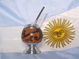 ARGENTINA MATE GOURD YERBA TEA DRINKING CUP STRAW BOMBILLA DETOX SLIM KIT 0255!