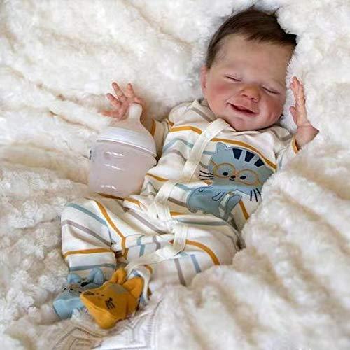 Poupée réaliste Reborn Baby, poupée de Renaissance en Silicone à la Main avec des articulations Flexibles et Une Surface Douce Ealistic, Enfants Education précoce Jouets pour Enfants,Boy