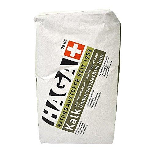HAGA Kalk-Universalspachtel fein, pulverförmig, 20 kg - Glätter, Reparatur- & Universalspachtel