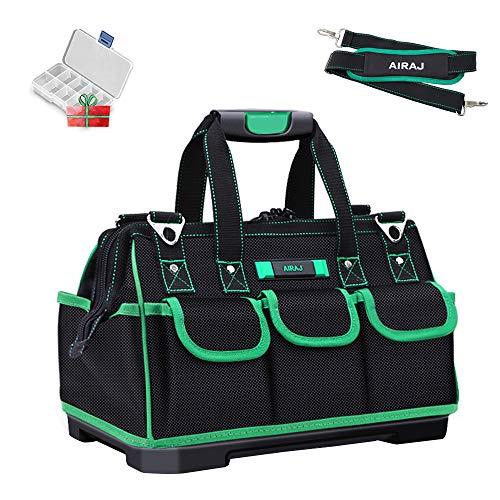AIRAJ kleine Werkzeugtasche,35×21×22cm,Wasserdichte Werkzeugtasche,Faltbare Werkzeugtasche mit verstellbarem Schultergurt,Zur Aufbewahrung von Elektro- und Handwerkzeugen,Werkzeugtasche damen