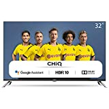 CHiQ Televisor Smart TV LED 32', Android 9.0, HD, WiFi, Bluetooth, Google Play Store, Google Assistant, Netflix, Prime Video, HDMI, USB - L32H7A
