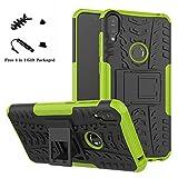 LiuShan Protettiva Shockproof Rigida Dual Layer Resistente agli Urti con cavalletto Caso per ASUS Zenfone Max PRO M1 ZB601KL / ZB602K Smartphone,Verde