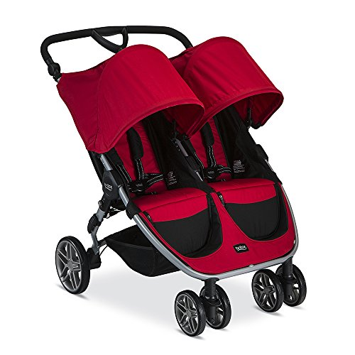 Britax 2017 B-Agile Double Stroller, Red