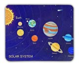 Mouse Pad for Kids, Educational Fun Colorful Infographic Computer Mousepad for Boys & Girls, Non-Slip Rubber Based, Perfect Remote Learning Designs for Children (Solar System)