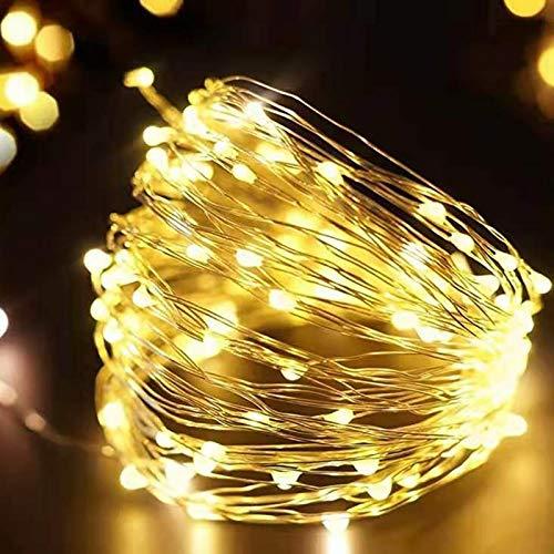 Luces de cadena LED guirnalda de alambre plateado luces de hadas decoración de la fiesta de navidad familiar luces de cadena A1 4m40 leds usb